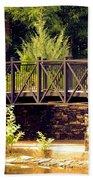 Wrought Iron Bridge Beach Towel