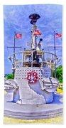Ww II Submarine Memorial Beach Towel
