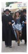 Wyatt Earp  Doc Holliday Escort  Woman  With O.k. Corral In  Background 2004 Beach Towel