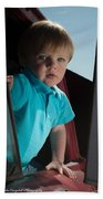 Wyatt Portrait 3 Beach Towel