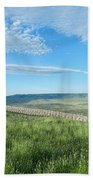 Wyoming Snow Fence Beach Towel