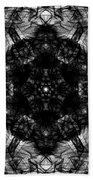 X-ray Of A Snowflake Beach Towel