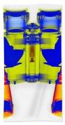 X-ray Of Binoculars Beach Towel