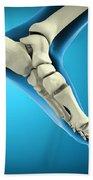 X-ray View Of Bones In Human Foot Beach Towel