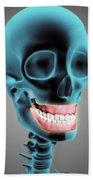 X-ray View Of Human Skeleton Showing Beach Sheet