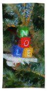 Xmas Noel Ornament Photo Art 01 Beach Towel
