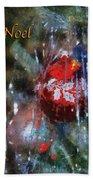 Xmas Ornament Noel Photo Art 01 Beach Towel