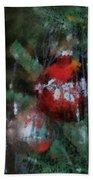 Xmas Red Ornament Photo Art 03 Beach Towel