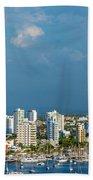 Yachts And Modern Cartagena Beach Towel