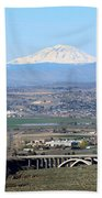 Yakima Valley Outlook With Mount Adams Beach Towel