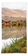 Yakima River Autumn Beach Sheet