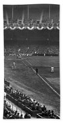 Yankee Stadium Game Beach Towel by Underwood Archives