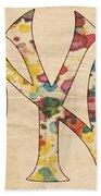 Yankees Vintage Art Beach Towel