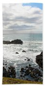 Yaquina Bay Coastline Beach Towel
