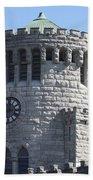 Ye Old Castle Clock Tower Beach Towel