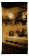 Ye Old Wine Cellar In Tuscany Beach Towel by John Malone