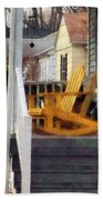 Yellow Adirondack Rocking Chairs Beach Towel
