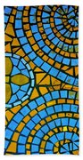 Yellow And Blue Mosaic Beach Towel