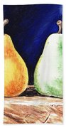 Yellow And Green Pear Beach Towel