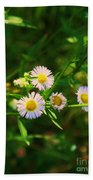 Yellow And White Dasies Beach Towel