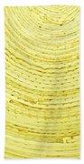 Yellow Arcs Beach Towel