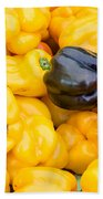 Yellow Bell Peppers Beach Towel