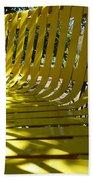 Yellow Bench Beach Towel