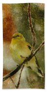 Yellow Bird Beach Towel