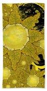 Yellow Bird Sings In The Sunflowers Beach Towel