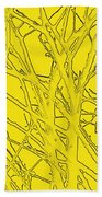 Yellow Branches Beach Towel