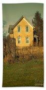 Yellow Brick Farmhouse Beach Towel