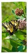 Yellow Butterflies Beach Towel