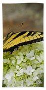 Yellow Butterfly 2 Beach Towel