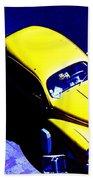Yellow Car Beach Towel