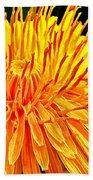 Yellow Chrysanthemum Painting Beach Towel