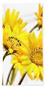 Yellow Country Wildflowers Beach Towel