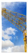 Yellow Crane And Sky Beach Towel