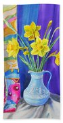Yellow Daffodils Beach Towel