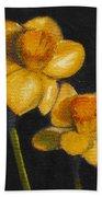 Yellow Daffodils Beach Towel
