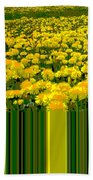 Yellow Daisies Beach Towel