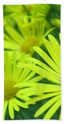 Yellow Daisies Close-up Beach Towel