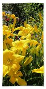 Yellow Daylilies Beach Towel