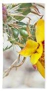 Yellow Desert Flower Beach Towel