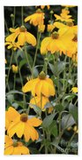 Yellow Echinacea Beach Towel