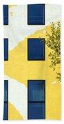 Yellow Facade In Berlin Beach Towel