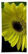 Yellow Gerbera Daisy  Beach Towel