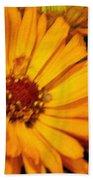 Yellow Gold Flowers Beach Towel
