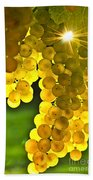 Yellow Grapes Beach Towel by Elena Elisseeva