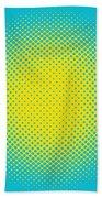 Optical Illusion - Yellow On Aqua Beach Towel
