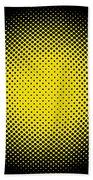 Optical Illusion - Yellow On Black Beach Towel